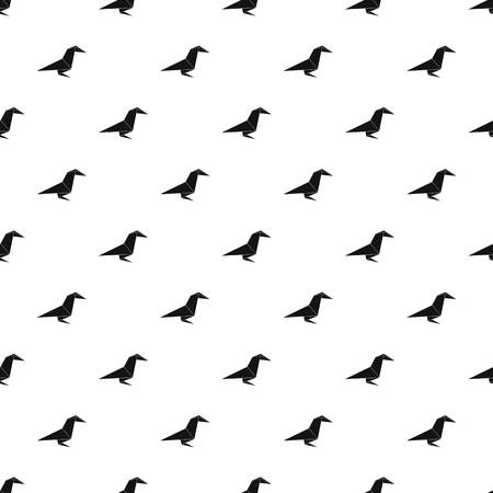 Origami raven pattern vector seamless