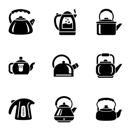 Tea filling icons set. Simple set of 9 tea filling vector icons for web isolated on white background Vetores