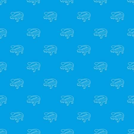 Scolosaurus pattern vector seamless blue