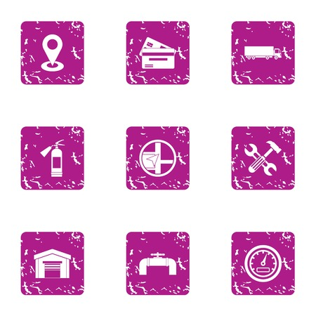 Payment for positioning icons set. Grunge set of 9 payment for positioning vector icons for web isolated on white background