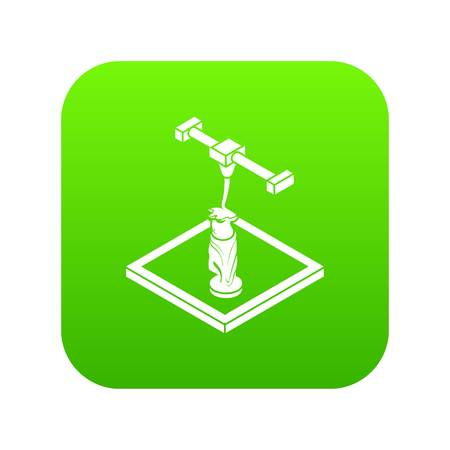 Statue  printing icon green vector