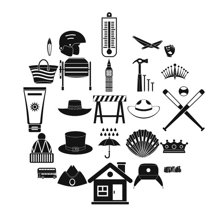 Napper icons set. Simple set of 25 napper vector icons for web isolated on white background