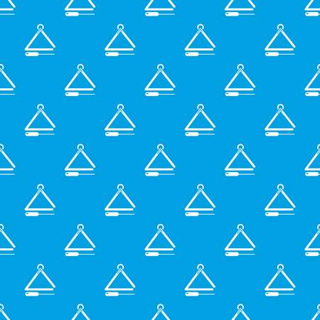 Musical triangle pattern vector seamless blue