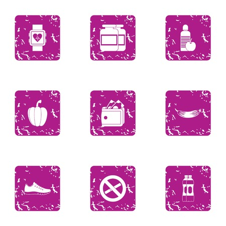 Interdiction icons set. Grunge set of 9 interdiction vector icons for web isolated on white background