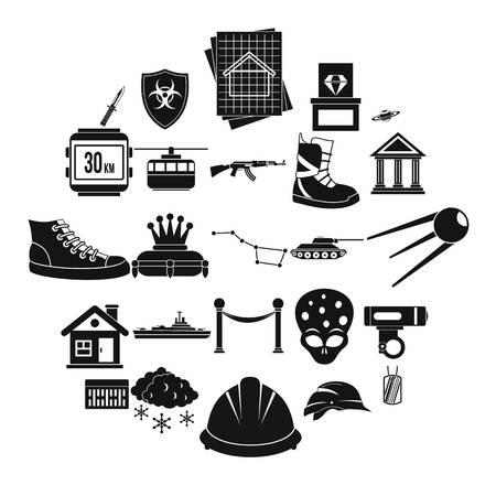 Slam icons set. Simple set of 25 slam vector icons for web isolated on white background Illustration