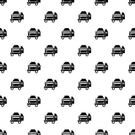 Concrete mixer pattern vector seamless repeating for any web design
