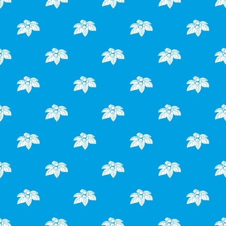 Whortleberries pattern vector seamless blue