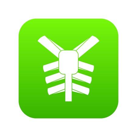 Human thorax icon digital green