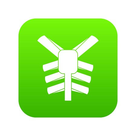 Human thorax icon digital green