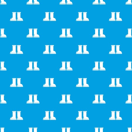 Rubber garden boots pattern vector seamless blue repeat for any use Vectores