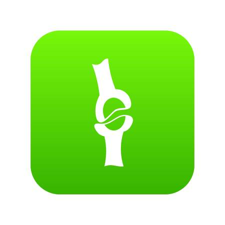 Knee joint icon digital green
