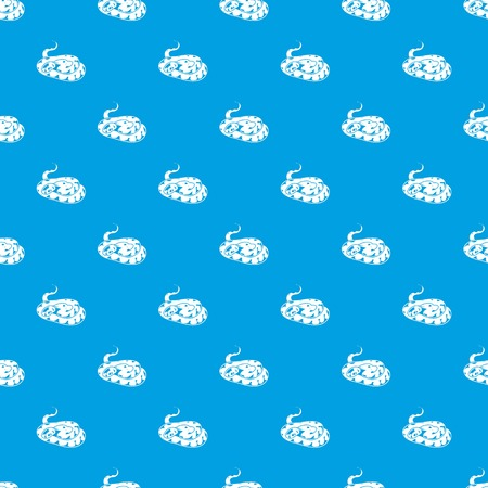 Snake pattern vector seamless blue repeat for any use