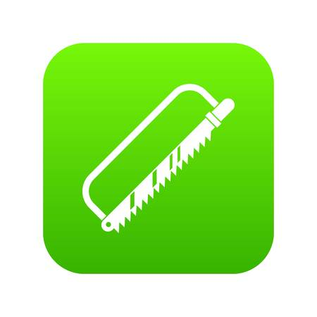 Sergical saw icon digital green 向量圖像