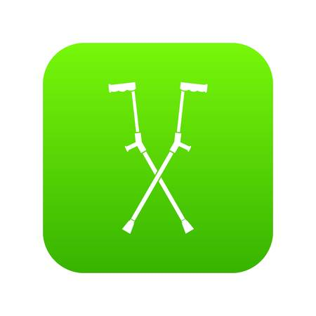 Other crutches icon digital green