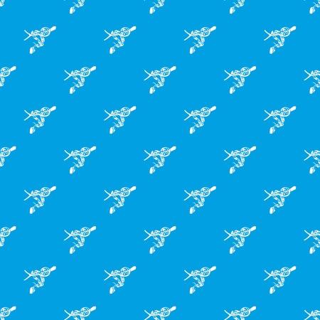 Ball python pattern vector seamless blue