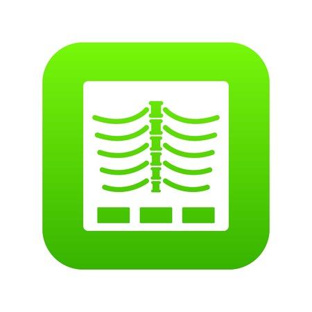 X ray photo icon digital green Illustration
