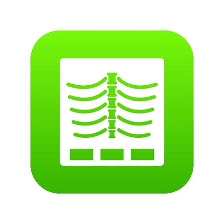 X ray photo icon digital green Ilustrace
