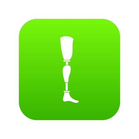 Prosthesis leg icon digital green