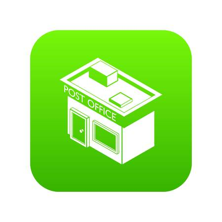 Post office icon green vector Çizim