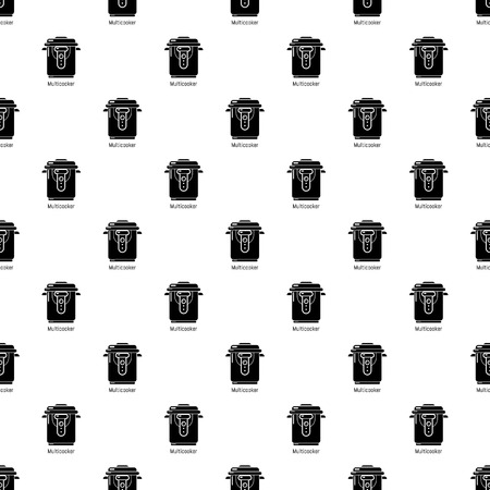 Multi cooker pattern vector seamless repeating for any web design Illustration