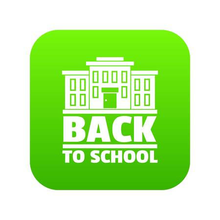 Back to school icon green vector Illusztráció