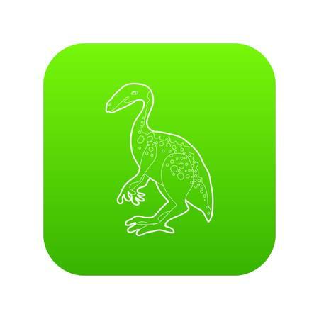 Young dinosaur icon green vector