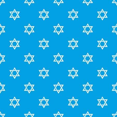 Star david judaism pattern vector seamless blue