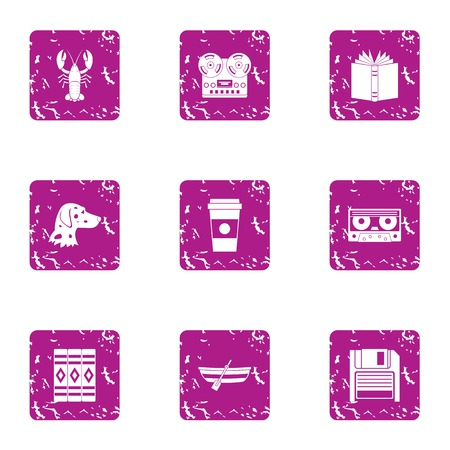 Peeping icons set. Grunge set of 9 peeping vector icons for web isolated on white background Stok Fotoğraf - 130235671