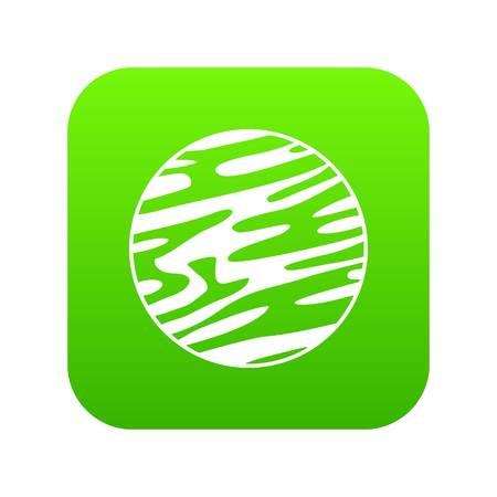 Far away planet icon digital green
