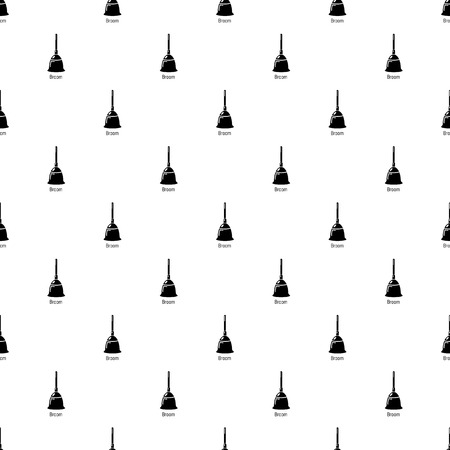 Broom pattern vector seamless repeating for any web design