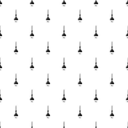 Mop pattern vector seamless repeating for any web design