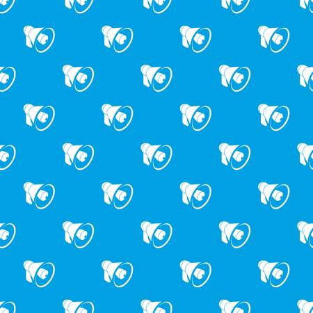 Hand speaker pattern vector seamless blue repeat for any use