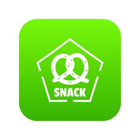 Snack icon green vector Stock Vector - 111539191