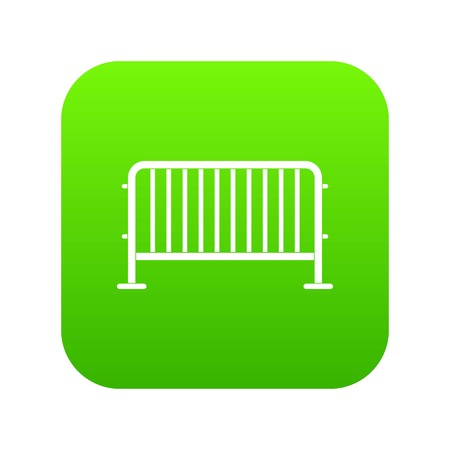Steel barrier icon digital green