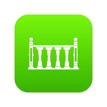 Balustrade icon digital green