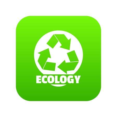 Recycling icon green vector 일러스트