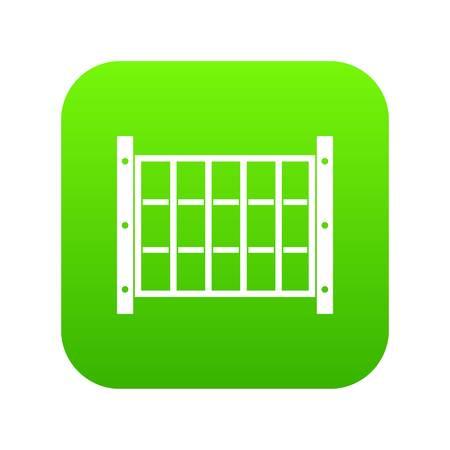 Yard fence icon digital green