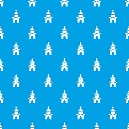 Church pattern vector seamless blue