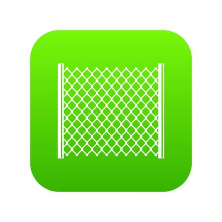 Perforated gate icon digital green Illustration