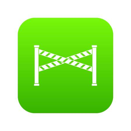 Police line icon digital green for any design isolated on white vector illustration Standard-Bild - 111511587