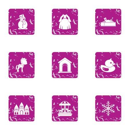 Female gladness icons set. Grunge set of 9 female gladness vector icons for web isolated on white background