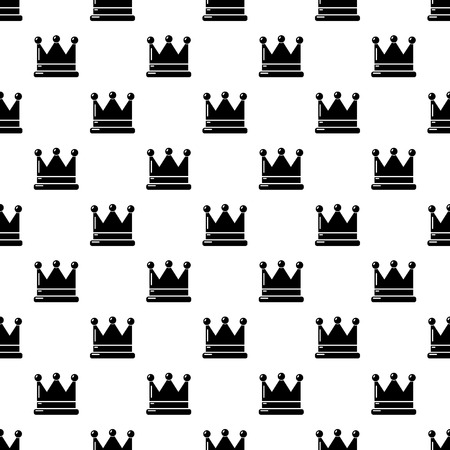 Crown pattern vector seamless repeating for any web design  イラスト・ベクター素材