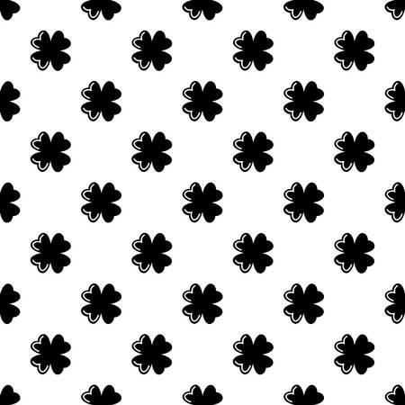 Quatrefoil leaf pattern vector seamless