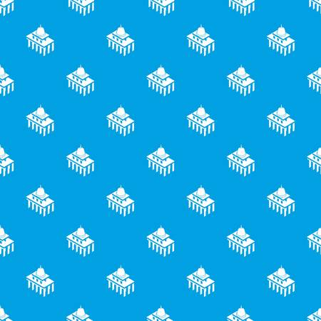 White house usa pattern vector seamless blue repeat for any use 일러스트