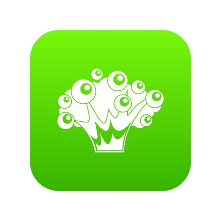 High power explosion icon digital green Illustration