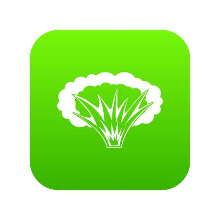 Atomical explosion icon digital green