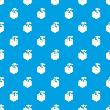 Election box pattern vector seamless blue repeat for any use Illustration