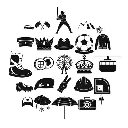 Hat icons set. Simple set of 25 hat vector icons for web isolated on white background