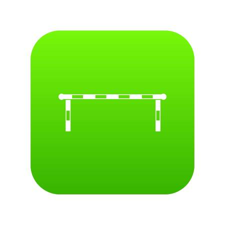 Striped barrier icon digital green