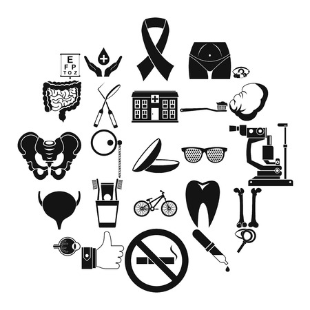Internist icons set. Simple set of 25 internist vector icons for web isolated on white background Иллюстрация